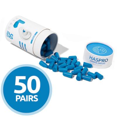 Беруши пенопропиленовые - Haspro Tube50 голубые